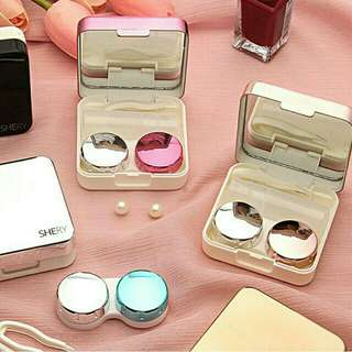 Reflective Contact Lens Case Travel Kit