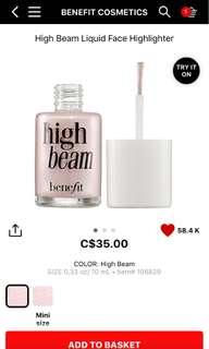 NEW Benefit High Beam