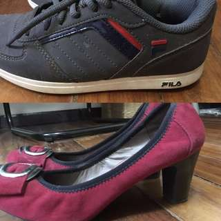Sale! 2 shoes for 1000 Fila and Geox (these shoes are incredibly comfortable)