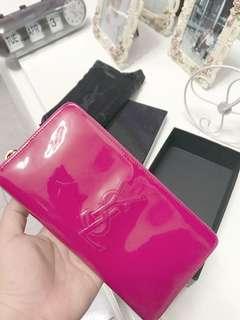 YSL Belle De Jour Zip Wallet, PINK