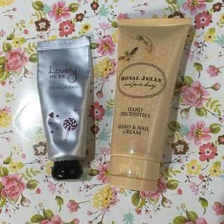 THE FACE SHOP MAKE UP BASE AND MARKS & SPENCER HAND AND NAIL LOTION BUNDLE