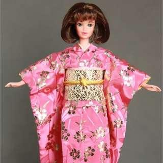 Barbie 日本和服新年快樂 HAPPY NEW YEAR