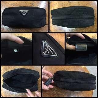 Prada Nylon Cosmetic Pouch Kit Black Small