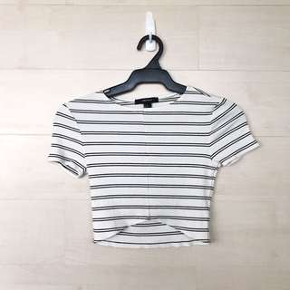 Forever21 Stripes Crop Top