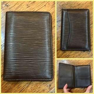 Louis Vuitton Bi Fold Epi ID Card Wallet Brown