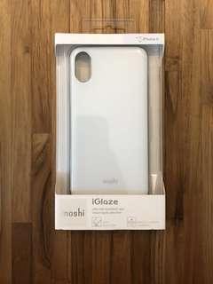 iPhone X Moshi iGlaze 軍規等級 手機殼 珍珠白