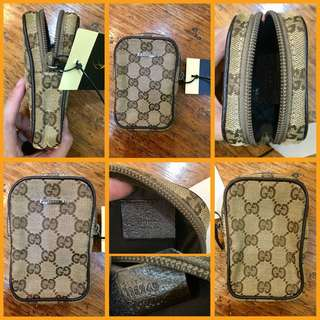 Gucci GG Canvass Mobile / Cigarette Case Brown