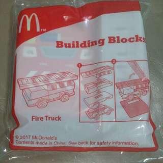 McDonald's happy meal building blocks fire truck