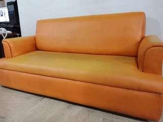 4-5 Seater Orange and Yellow Sofa Set