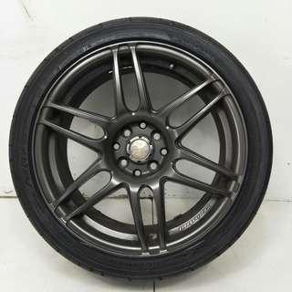 17 '' Sport Rim With Tyre 4x100 4x114.3 (SR1032)
