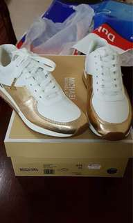 BRAND NEW Original MK White and Gold Shoes.