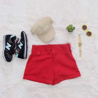 Red classy shorts
