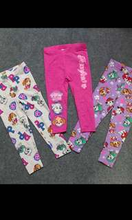 Instock now !! Paw patrol kids legging .. pink/white(100/110cm) purple(110/120cm) brand new