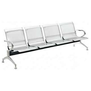 3 seater gang chair with backrest - office furniture