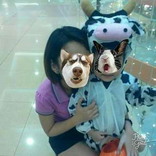 Cow costume for toddlers