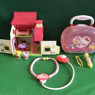 Hello Kitty Mini House & Doctor Playset
