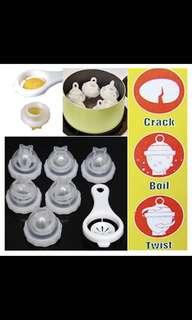 Creative Boil Egg Mould 6 Egg Boiler With Egg White Separator Cooking Tool