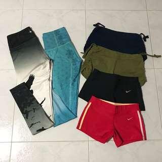 Yoga Leggings, Shorts, Tops, Bras