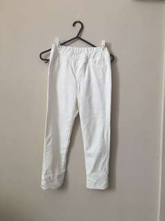 Uniqlo White Pants Leggings Size M Fit 8-9Y Gal