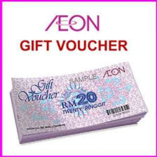 AEON voucher rm720 selling for RM680