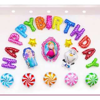 (In Stock)Frozen Theme Party Decoration Set-Happy Birthday