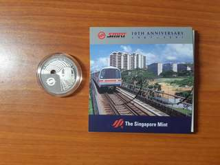 Rare SMRT 10th Anniversary Silver Proof Medallion