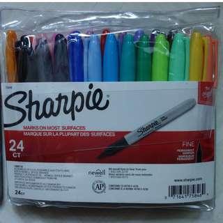 [包平郵] Sharpie 24色 original fine permanent marker