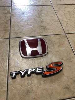 Honda Integra Type S Emblems
