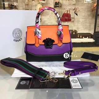 Versace Inspired Multi-Colored Medusa Palazzo Empire Medium Bags