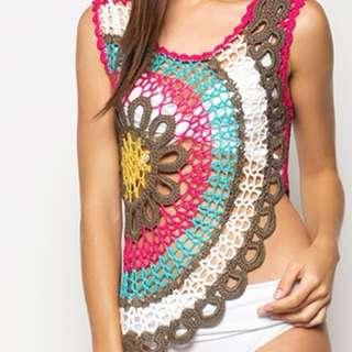 Boho Hi-Low Summer Crochet Tank Vest