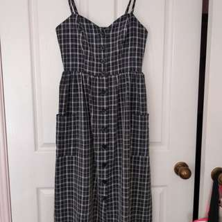 Dotti tartan checkered dress