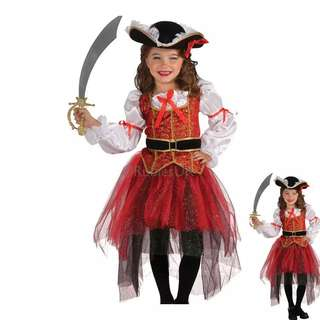 Halloween dress up female pirate