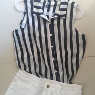 H&M (Sg)  Stripe Top