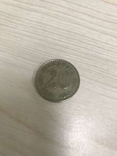1973 Old Coin 20cent