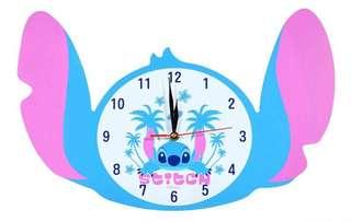迪士尼星際寶貝STITCH史迪奇頭型掛鐘 壁鐘 時鐘