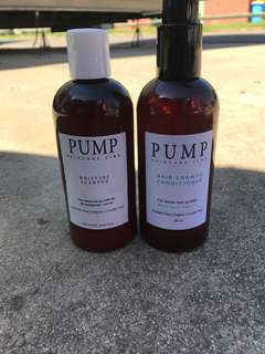 PUMP hair growth shampoo and conditioner