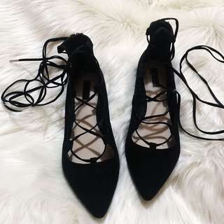 Forever21 Laced up flats
