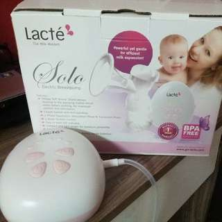 Lacte Solo Breastpump brand new, cheaper than used.extended 3 yrs warranty.