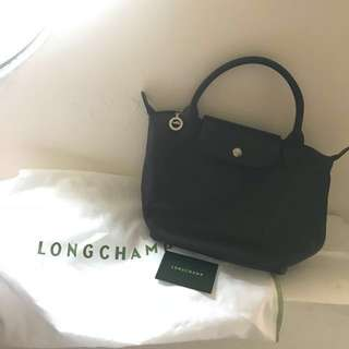 Longchamp 牛皮 深咖啡 包