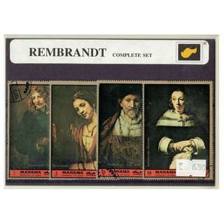 Stamp Folder Featuring Rembrandt's Paintings
