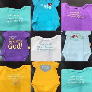 Faith baby romper