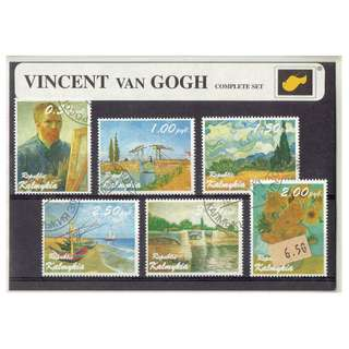 Stamp Folder Featuring Vincent van Gogh's Paintings