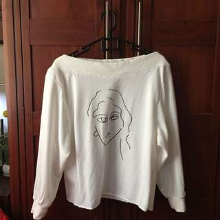 This is April White Sweater