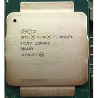 (二手)90%NEW Intel® Xeon® Processor E5-2658 v3 服務器CPU