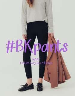 🚚 Pazzo #BK103 彈力修身 黑褲