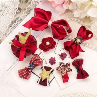 (Set 4) 10pcs Girl hair clips hair accessories set