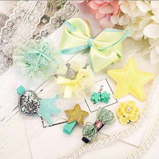 (Set 5) 10pcs Girl hair clips hair accessories set