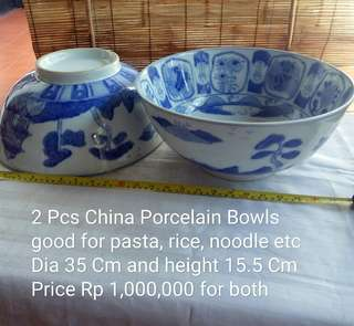 Two China Identical Porcelain Bowls