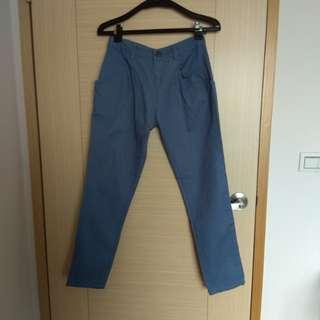 🚚 藍色挺版哈倫褲