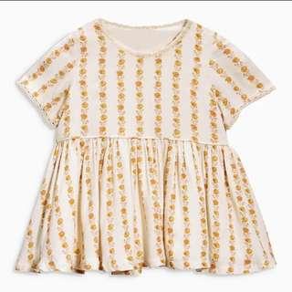 BNWT 2T Cream Dress with Flowers